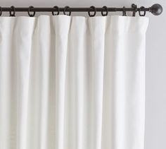 As part of our best-selling curtain collection, there are so many reasons to love the Emery Linen/Cotton Pole-Pocket Curtain. With a soft, luxurious drape, it brings both casual warmth and refined style to the room. Grey Blackout Curtains, Drapes And Blinds, Types Of Curtains, Drapes Curtains, Bedroom Curtains, Bedroom Balcony, Cotton Curtains, Velvet Curtains, White Curtains