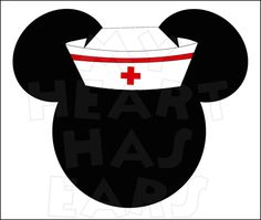 Nursing and minnie Run Disney, Disney Diy, Disney Crafts, Disney Trips, Disney Cruise, Mickey Head, Mickey Minnie Mouse, Nurse Clip Art, Mikey