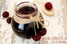 Dulceata de cirese Jam Recipes, Chutney, Cherry, Goodies, Gem, Desserts, Food, Drinks, Marmalade