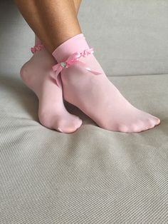 Women's Socks Ankle Socks Lace Ankle Socks by Muggyshop on Etsy Frilly Socks, Silk Socks, Lace Socks, Sheer Socks, Foot Socks, Ankle Socks, Black Knee High Socks, Moisture Wicking Socks, Hunter Socks