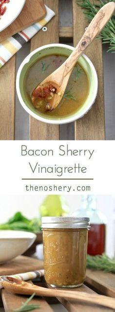 Bacon Sherry Vinaigrette | TheNoshery.com - @thenoshery