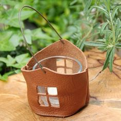 Leather candle-house