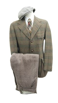 1920s Tweed Sporting Outfit