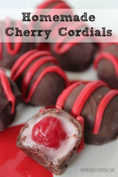 How To Make Homemade Cherry Cordials | These are so easy to make and the good thing it - you know exactly what is in them!