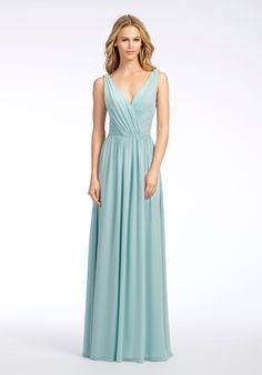Hayley Paige Occasions 5653 V-Neck Bridesmaid Dress