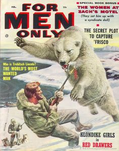"""For Men Only"" Vintage Pulp Men's Adventure Magazine"