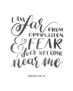 I am far from oppression (Isaiah Isaiah 54 10, Book Of Isaiah, Bible Scriptures, Bible Quotes, Manifestation Journal, Bride Of Christ, My Salvation, Oppression, Words Of Encouragement