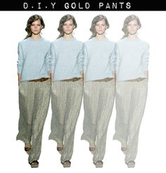 DIY gold pants