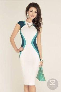 Resultado de imagem para polyana fantastico vestido bicolor