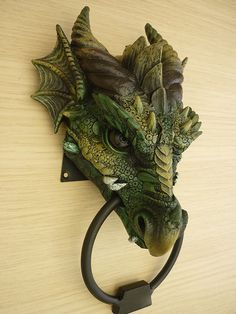 GOTHIC DRAGON HEAD DOOR KNOCKER - i'd love this as an ornament (without the ring)