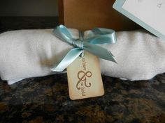 "wedding favors.... pashminas with tags that say ""to have & to hold"""