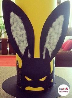 Batman bunny! Perfect for a little one that is not so keen on frills and ribbons and bows. Struggling for Easter bonnet ideas for boys? We've got 25 brilliant bonnet ideas for you to make, featuring everything from dinosaurs to Batman.