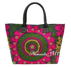 Indian Woman Suzani Boho Cotton Embroidery Shoulder Tote & Suzani Beach Handbag  #Unbranded #TotesShoppers