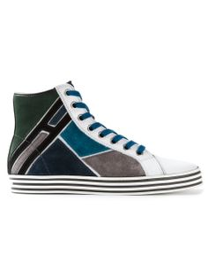 Hogan Rebel Patchwork Hi-top Sneaker - Monti