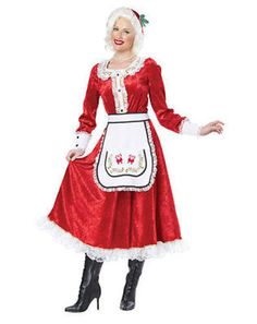CALIFORNIA COSTUMES CLASSIC MRS CLAUS CHRISTMAS XMAS HOLIDAY SANTA COSTUME