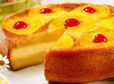 """Pat Your Tummy Pineapple Upside Down Cake ~ The New River Valley County Fair was held on July 2015 and three winners were chosen along with their recipes. Margaret McManus won the Blue Ribbon with her """"Pat Your Tummy Pineapple Upside Down Cake. Sweet Recipes, Cake Recipes, Dessert Recipes, Cookbook Recipes, Drink Recipes, Yummy Recipes, Just Desserts, Delicious Desserts, Yummy Food"""