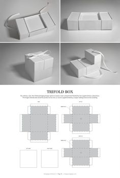 Trifold Box – structural packaging design dielines