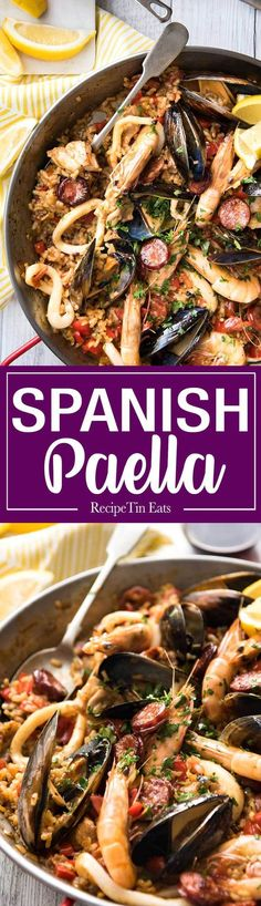 Spanish Paella - The right rice, right amount of liquid and the base seasonings…