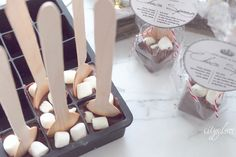 Choco-Spoons for luxury hot cocoa