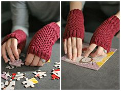 Finished Knit: Fergus Mitts | knittedbliss.com