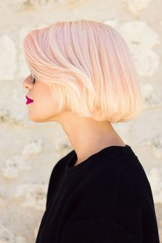 Pinky blonde bob #hair
