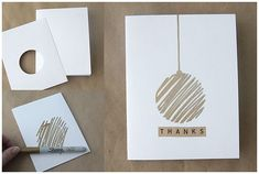 easy DIY thank you cards with metallic Sharpies - It's Always Autumn - heart shaped ones with red sharpies, or Christmas trees with green? diy cards easy DIY thank you cards with metallic Sharpies - It's Always Autumn Homemade Christmas Cards, Homemade Cards, Christmas Diy, Christmas Trees, Simple Christmas Cards, Christmas Decorations, Christmas Vacation, Christmas Music, Christmas Ornament