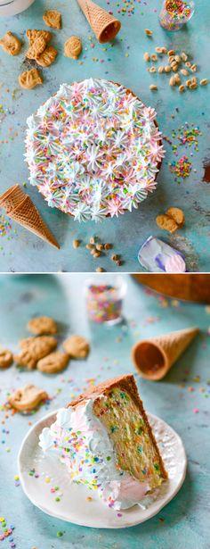 Coney Island Cheesecake. Cotton Candy Funfetti! I howsweeteats.com