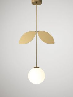 - Material and fabrication: Brushed brass and glass. Light source: E14 max 40W Light bulbs not included. 2015 Collection