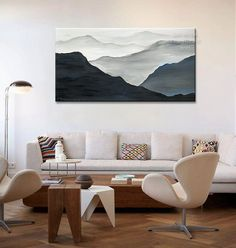 Mountain Art Landscape Painting Original Acrylic by elseart