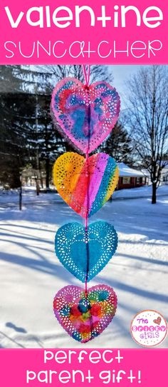 Valentine's Day Activity, Valentine Craft, Valentine Painting, Valentine Fun Activity, Valentine Cards, Fun Stuff for Kids, Watercolors, Watercolor Painting, Heart Suncatcher, Valentine Gift for Students, Valentine Gift for Parents, Paint by Number