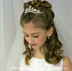First Communion Tiara Crown Style Sienna