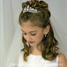 First Communion Tiara Crown Style Sienna