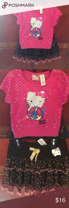 Selling this Girls hello kitty skirt set on Poshmark! My username is: riaae. #shopmycloset #poshmark #fashion #shopping #style #forsale #Hello Kitty #Other