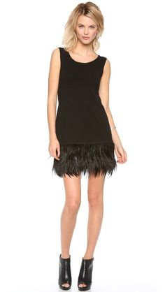 a5dc0aee007 Nanette Lepore Plume Shift Dress Feather Dress