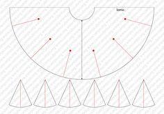 Patrón faldas de flamenco: tipos de vuelo Wedding Dress Patterns, Dress Making Patterns, Skirt Patterns Sewing, Clothing Patterns, Corset Sewing Pattern, Flamenco Skirt Pattern, Circle Skirt Pattern, Sewing Basics, Sewing Hacks