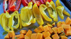 We love veggy! Verdure al forno, peperoni e zucca ;)