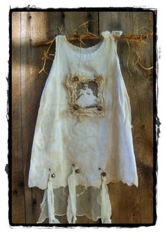 Altered Art Vintage Antique Baby Dress Wall Hanging