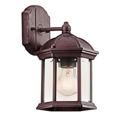 Kichler Lighting 49183TZ Street USA Bracket Outdoor Sconce, Tannery Bronze by Kichler. $41.79. From the Manufacturer                Finish: Tannery Bronze, Light Bulb:(1)100w A19 Med F Incand New Street USA Outdoor Bracket. Also compatible with 23-30W CFL bulbs.                                    Product Description                Finish:Tannery Bronze, Light Bulb:(1)100w A19 Med F Incand New Street USA Outdoor Bracket Also compatible with 23-30W CFL bulbs
