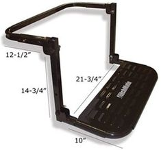HitchMate TireStep Adjustable Step for SUVs, RVs and Light Trucks - x - 400 lbs Heininger Holdings Truck Bed Accessories Metal Projects, Welding Projects, Projects To Try, Welding Ideas, Welding Classes, Welding Jobs, Welding Art, Tire Steps, Safe Schools
