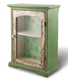 Look at this #zulilyfind! Lime Rustic Cabinet by Foreside #zulilyfinds