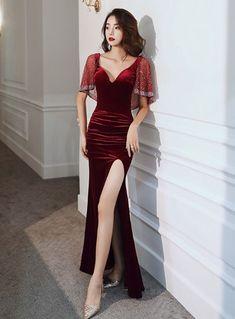Korean Fashion Dress, Ulzzang Fashion, Kpop Fashion Outfits, Edgy Outfits, Classy Outfits, Dress Outfits, Fashion Dresses, Dress Up, Night Dress For Women