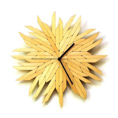 Haystack raw organic wall clock made of wood by ardeola on Etsy