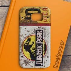 Jurassic Park Jeep License Plate 10 Samsung Galaxy S6 Edge Case | casefantasy