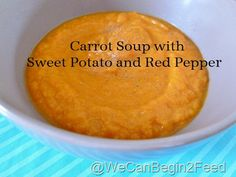 Apr 3 Carrot Soup with Sweet Potato and Red Pepper