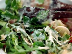 Penne pasta with arugula