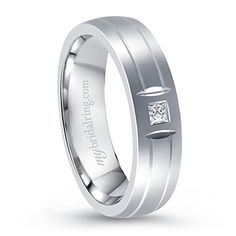 14K White Gold Diamond Wedding Band - Our Price: $1,079.99 - Nothing to say anything about ring for your special occasions. http://www.mybridalring.com/Mens/14K-white-gold-diamond-wedding-band/
