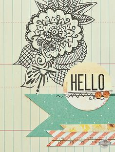 Hello Card {Studio Calico June Kits} - Two Peas in a Bucket