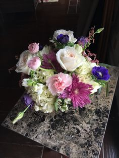 Colorful spring wedding bouquet by Reynolds Treasures