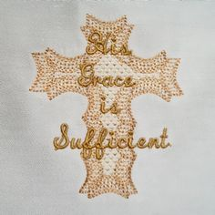 Free His Grace is Sufficient Cross 4x4 Beautiful free cross , this NLE original design is a direct stitch design, lacy in appearance but not FSL. $0.00 Enjoy!