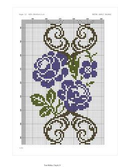 Cross Stitch Rose, Stitch 2, Cross Stitch Flowers, Pony Bead Patterns, Beading Patterns, Cross Stitch Patterns, Prayer Rug, Pony Beads, Filet Crochet